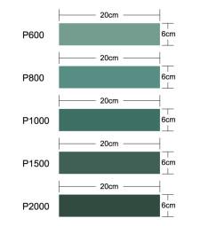 Master Tools Sandpaper Set600, 800, 1000, 1500, 2000