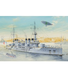 1:350 French Navy Pre-Dreadnought Battleship Voltaire