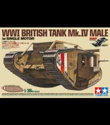 1:35 WWI British Tank Mk.IV Male - w/Single Motor - 5 figures