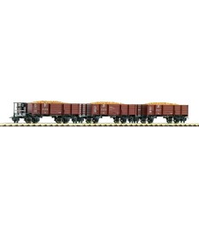 Set of 3 boxcars loaded with potatoes by Deutsche Reichsbahn (DR) - HOe scale