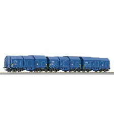 Set of telescopic covered wagons with function, NS - Bauart Shimmns
