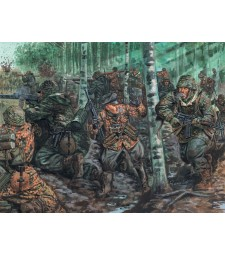1:72 WWII-GERMAN ELITE TROOPS - 48 figures