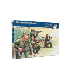 1:72 VIETNAM WAR: VIETNAMESE ARMY-VIETCONG - 50 figures