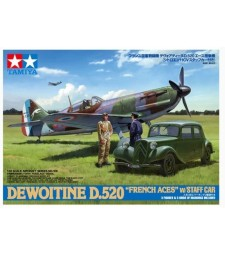 "1:48 Dewoitine D.520 ""French Aces"" - w/Staff Car"