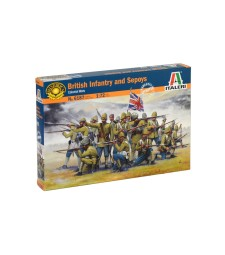 1:72 BRITISH COLONIAL INF. w/SEPOYS - 50 figures