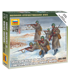 1:72 Soviet Infantry (Winter Uniform) - 5 figures
