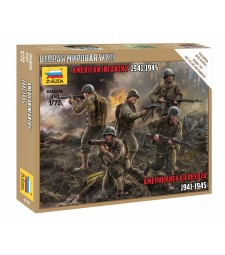 1:72 American infantry 1941-1945 - snap-fit