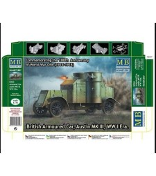 1:72 British Armoured Car, Austin, MK III, WW I Era