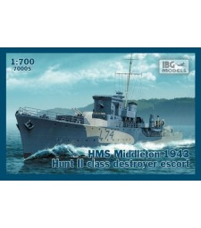 1:700 HMS Middleton 1943 Hunt II class destroyer escort