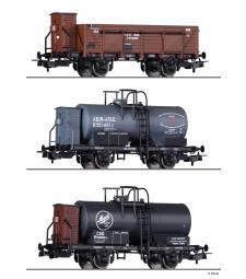 Freight car set BDZ, JDZ and CSD, epoch II