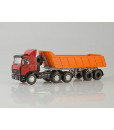 MAZ-6422 + 9506-20 (low Dumper Semitrailer)