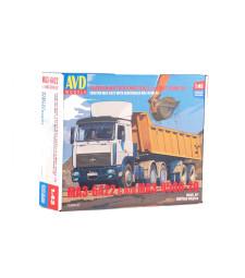 MAZ-6422 tractor truck with MAZ-9506-20 dumper semitrailer - Die-cast Model Kit