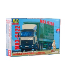 MAZ-6422 tractor truck with semitrailer MAZ-9758 - Die-cast Model Kit
