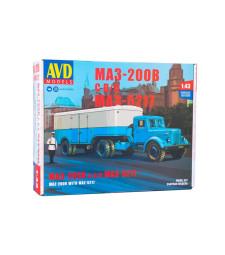 MAZ-200V tractor truck with MAZ-5217 semitrailer - Die-cast Model Kit