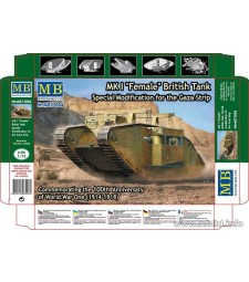 "1:72 MK I Female"" British Tank, Special Modification for the Gaza Strip"""
