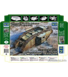 "1:72 MK II Female"" British Tank, Arras Battle period, 1917"""
