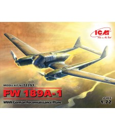 1:72 FW 189A-1. WWII German Reconnaissance Plane (100% new molds)