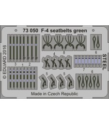 1:72 Photo-etched parts F-4 seatbelts green STEEL