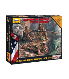 "1:72 American Machine gun ""Browning"" - 3 figures"