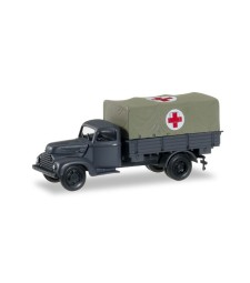 "1:87 Ford cologne canvas trailer ""Rotes Kreuz"""