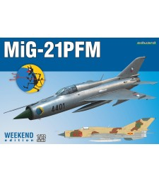 1:72 Soviet Cold War jet fighter MiG-21PFM