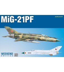 1:72 Soviet Cold War jet fighter MiG-21PF