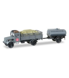 "1:87 Opel 3000 truck with loading and tank Trailer ""Fernmeldekompanie JG 1"""
