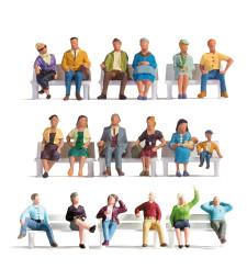 """Anniversary Figures Set """"Sitting People"""""""