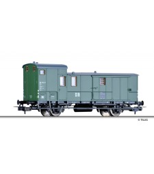 Baggage car (ex Pw Sachs 07) of the DR, epoch III