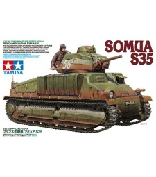 1:35 French Medium Tank Somua S35 - 1 figure