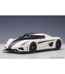 Koenigsegg Regera 2016 (crystal white/carbon/red accents) (composite model/full openings)