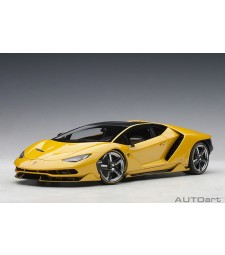 Lamborghini Centenario LP770-4 (new giallo orion/pearl yellow) 2017 (composite model/full openings + workable rear spoiler/detachable engine cover)