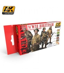 AK3240 WWII BRITISH UNIFORM COLORS - Figures Series Set (6 x 17 ml)