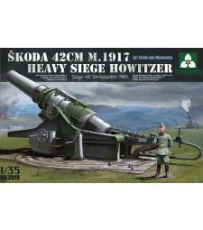 1:35 Skoda 42 cm M.1917 Heavy Siege Howitzer with Erich von Manstein