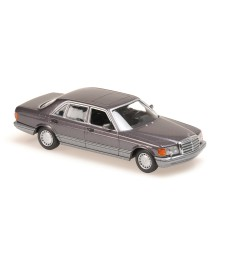MERCEDES-BENZ 560 SEL - 1990 - PURPLE METALLIC - MAXICHAMPS