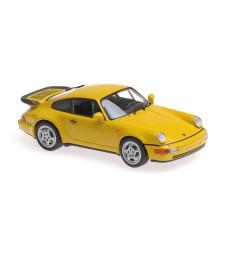 PORSCHE 911 TURBO (964) - 1990 – YELLOW – MAXICHAMPS