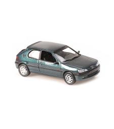 PEUGEOT 306 - 1998 - GREEN METALLIC - MAXICHAMPS