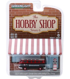 "1964 Volkswagen Samba Bus ""Firestone"" with Firestone Gas Pump Solid Pack - The Hobby Shop Series 6"