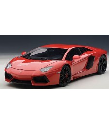 LAMBORGHINI AVENTADOR LP700-4 (ROSSO ANDROMEDA/RED WITH BLACK WHEELS/BLACK INTERIOR/ORANGE CALIPERS)