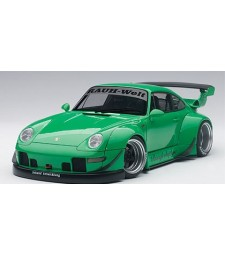 PORSCHE 993 RWB (GREEN/GUNGREY WHEELS) (COMPOSITE MODEL/2 DOOR OPENINGS)