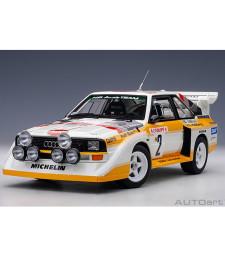 AUDI SPORT QUATTRO S1 #2 12 RALLY MONTE CARLO 1986 W.ROHRL/C.GEISTDORFER (composite model/2 doors + front/rear bonnets openings)