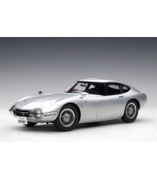 Toyota 2000GT Coupe (silver) 1965 (composite model/full openings)
