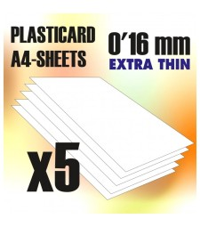 ABS Plasticard A4 size - Thickness 0'16 mm