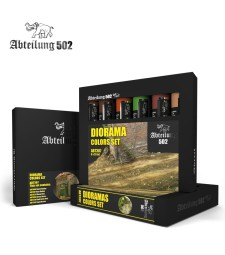 ABT307 DIORAMA COLORS SET - 6 x 20 ml - Abteilung 502 Oil paint