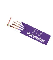 Flat Brush Pack, sizes 3, 5, 7 and 10