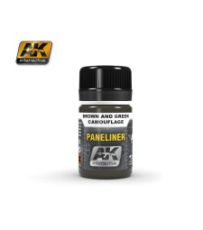 AK2071 PANELINER FOR BROWN AND GREEN CAMOUFLAGE (35 ml)  - Air Weathering Product