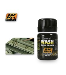 AK045 WASH FOR GREEN VEHICLES  - Weathering Products (35 ml)