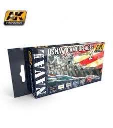 AK5020 US NAVY CAMOUFLAGE VOL. 2 - Acrylic Paint Set (6 x 17 ml)