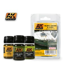 AK063 SLIMY GRIME AND FUEL  - Weathering Set (3 x 35 ml)