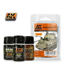 AK064 GREEN VEHICLES  - Weathering Set (3 x 35 ml)